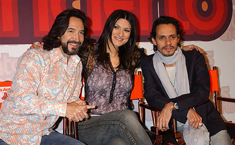 Marco Antonio Solis, Laura Pausini and Marc Anthony