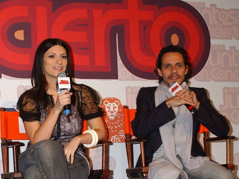 Laura Pausini and Marc Anthony